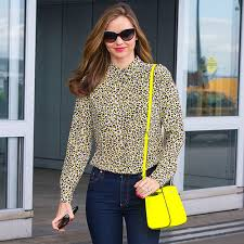 Miranda Kerr in a fabulous neon bag