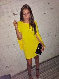 How fab is this pop of yellow dress?