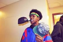 Joey Bada$$ with kilogram hat