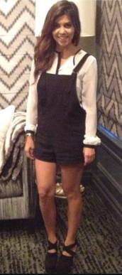 Kourtney Kardashian in overalls