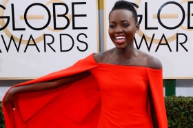 Lupita rocked this look with simple makeup