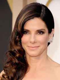 SANDRA BULLOCK -- Sandra's hair and makeup combination looked effortless.